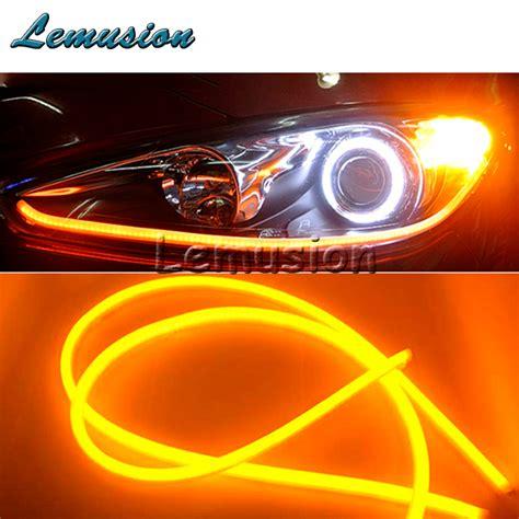 Promo Promo Promo Promo Led Drl 60 Cm 2 Warna Putih Orange car styling 60cm car led drl l lights for