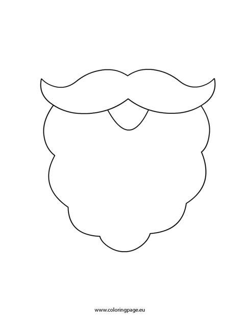 santa beard coloring page www imgkid com the image kid