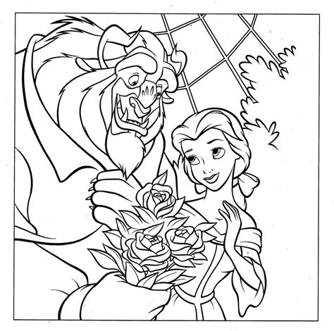 disney beauty and the beast coloring pages to print my picture princess disney coloring page