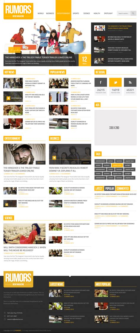 photoshop template news free news magazine homepage psd template at freepsd cc