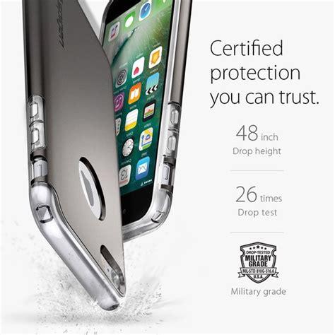 Slim Armor Black Back Cover Casing Iphone 7 iphone 7 genuine spigen hybrid armor slim dual layer