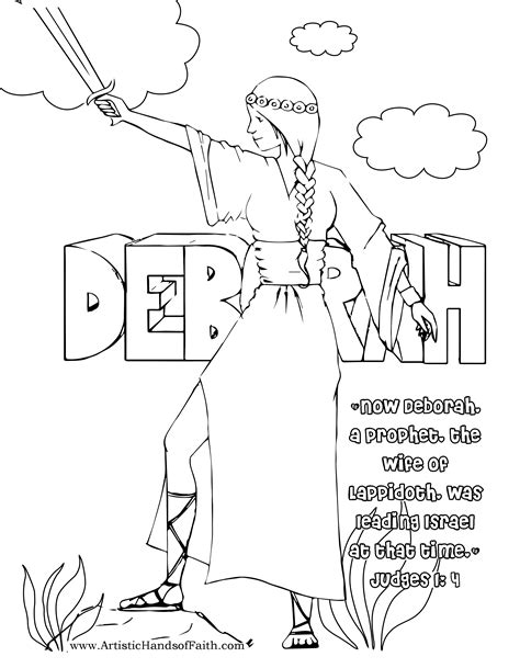 coloring pages for the book of judges free coloring page deborah of the bible judge of