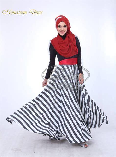 Dress Maxi Abella Dress Muslimah Gamis Abella Baju Muslimah Baju Murah monocrom dress by define baju muslim gamis modern
