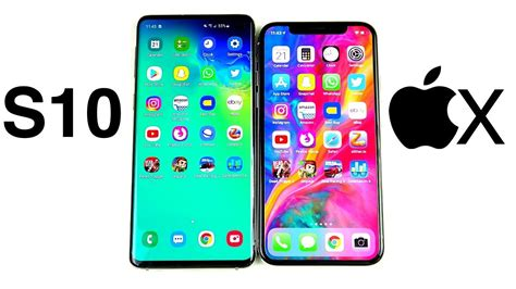Iphone X Vs Samsung Galaxy S10 by Galaxy S10 Vs Iphone X Speed Test