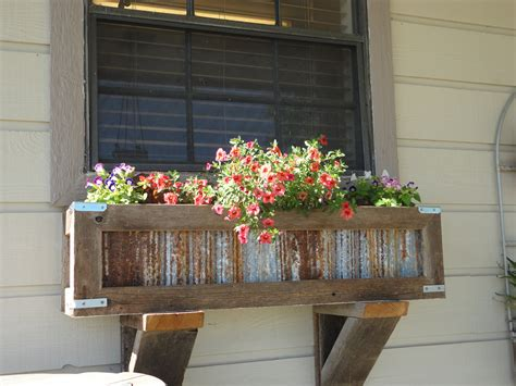 how to make a kitchen planter box for herbs diy handcrafted rustic window box planter for kitchen window