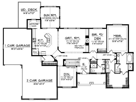 House Plans With Sunrooms | ranch house plans with open floor plan ranch house plans