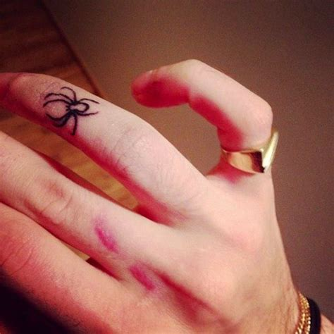small spider tattoos small spider on finger tattoos teeny tiny
