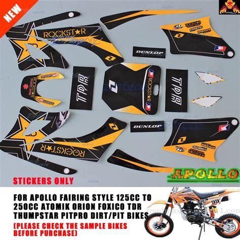Dirt Bike 125ccm Aufkleber by Apollo Orion Stickers Graphics Pit Bike 125 140 160 200