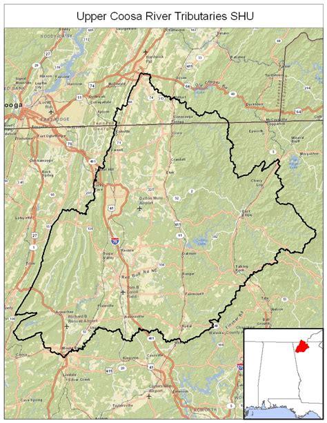 coosa river map coosa river tributaries