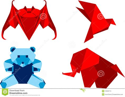 origami japanese paper folding web page origami set animals stock images image 10530774