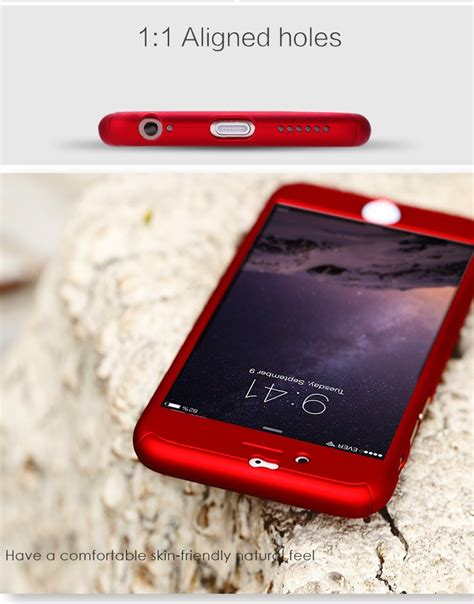 Casingcasecassing Iphone 7 360 Degree Protection Hybrid 1 for iphone 6 7 6s plus luxury front back 360