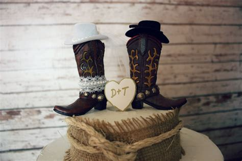country style wedding cake toppers western cowboy boots wedding cake topper western