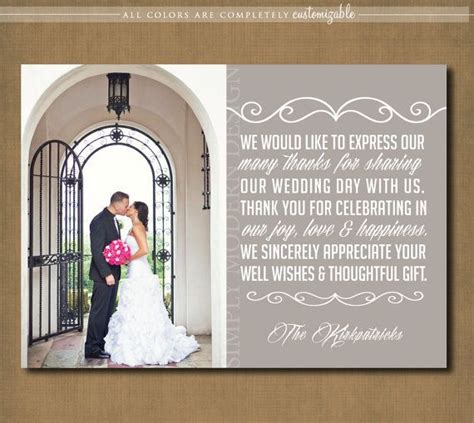 wedding thank you note in wedding thank you card wedding sign engagement thank you