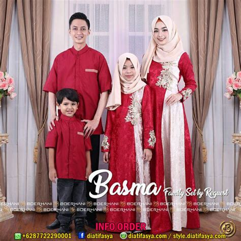 Baju Muslim Keluarga Branded Baju Muslim Keluarga Terbaru 2017 2018 Basma By Boerhani