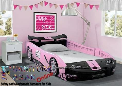 Kasur Mobil Balap ranjang anak mobil pink tempat tidur karakter
