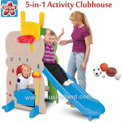 Coby Haus Gummy Slide Perosotan Anak grow n up 5 in 1 activity clubhouse slide perosotan anak multi fungsi
