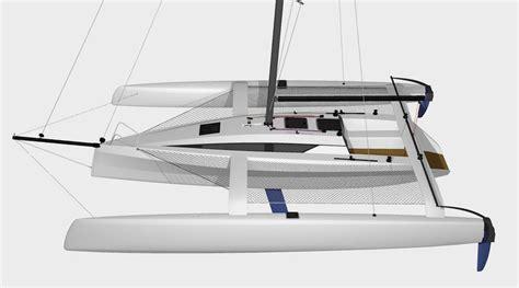 trimaran design principles tr42 performance trimaran grainger designs catamarans