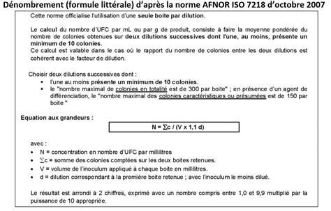 Exemple De Lettre Norme Afnor croissance microbienne etalonnage de la proc 233 dure