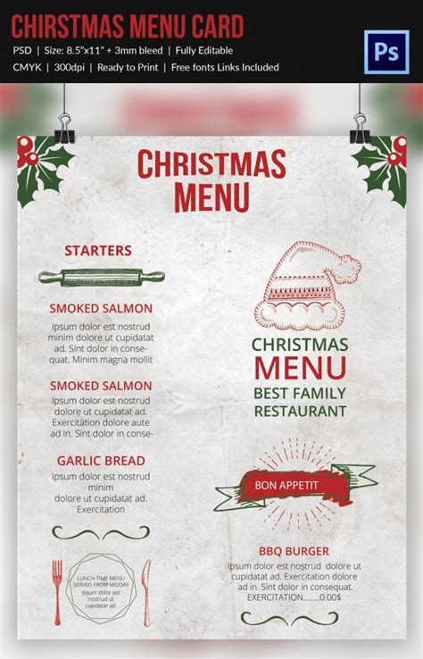 downloadable menu templates free 35 menu template free sle exle format