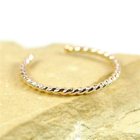 Handmade Ring Designs - gold toe ring twist design handmade jewelry adjustable