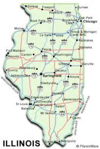 us map illinois illinois map