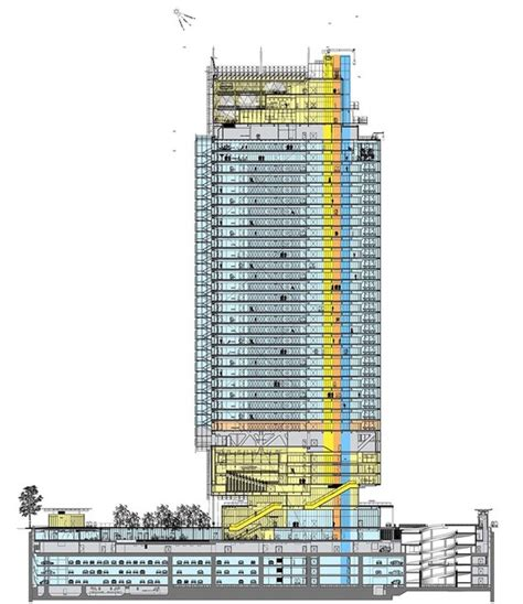 skyscraper section section