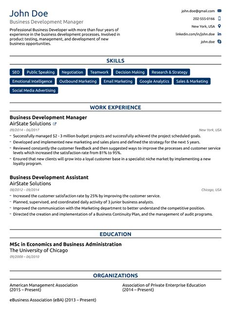 Resume Template For by 2018 Professional Resume Templates As They Should Be 8