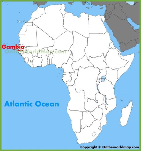africa map gambia gambia location on the africa map