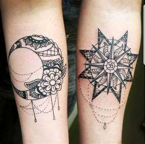 sun and moon best friend tattoos 43 best friend tattoos for you and your bff page 2