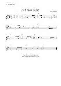 Free easy clarinet sheet music red river valley