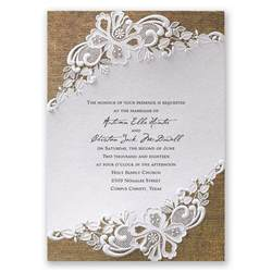 marriage invitation lacy invitation invitations by