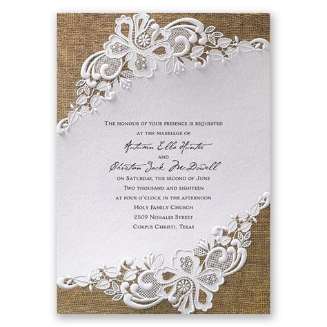 wedding invitation card lacy invitation invitations by
