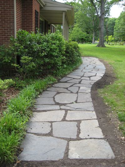 diying  slate path  leads   front door young