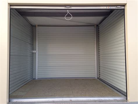 Inside Storage Units by 10 X 10 Modular Self Storage Facility In Davenport Iowa