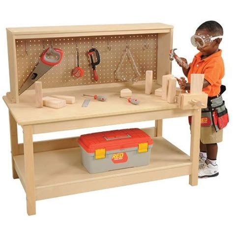 boys wooden tool bench wooden workbench with vise kaplan http www amazon com dp