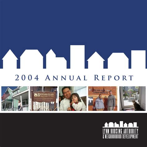 lynn housing authority lhand annual report 2004 grant communications consulting group