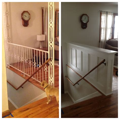 Replace Banister With Half Wall by Replace Banister With Half Wall Neaucomic