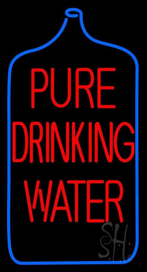 pure blue h2o red light 17 best images about drinking water neon signs on