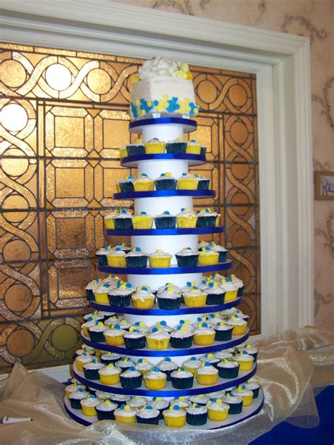 blue and yellow wedding cupcakes cake a licious royal blue and yellow buttons wedding cake