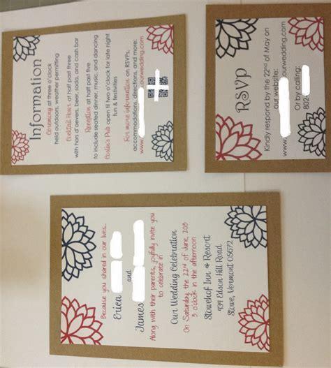 DIY kraft paper invitations done, finally!