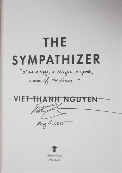 the sympathizer the sympathizer signed lined and dated pristine first edition of the 2016 pulitzer prize