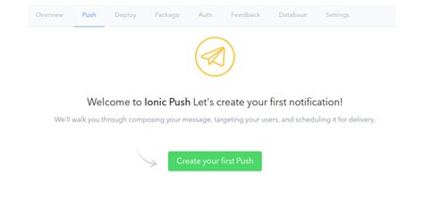 ionic push tutorial get started with ionic services push