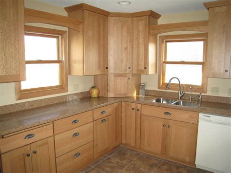 light quarter sawn oak cabinetry traditional kitchen