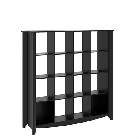 Cube Room Divider Bush Furniture Aero 16 Cube Bookcase Room Divider In Classic Black My16903 03