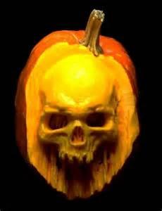 realistic skull pumpkin carving pumpkins pinterest
