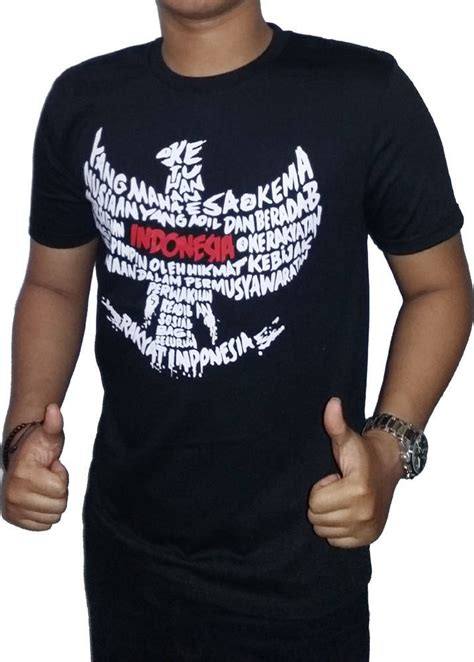 Tshirt Hitam Logo Elkoh Shop 1 jual kaos dili damn i indonesia logo garuda hitam t
