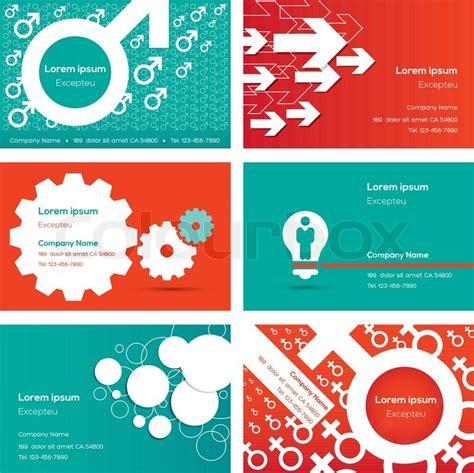 Visitenkarten Design Vorlage Visitenkarten Design Vorlage Vektorgrafik Colourbox