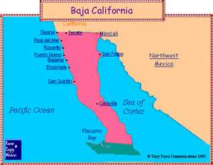 baja california peninsula map mexican state of baja california