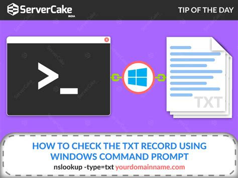 How To Check Records Check The Txt Record Using Windows Command Prompt