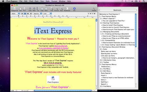 layout itext itext express on the mac app store